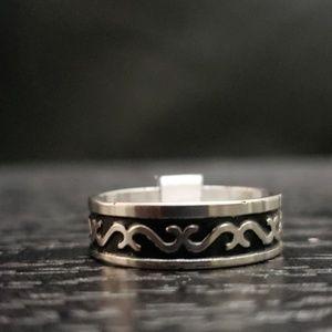 Other - 5️⃣For 2️⃣5️⃣NWT Black silver stainless steel ring